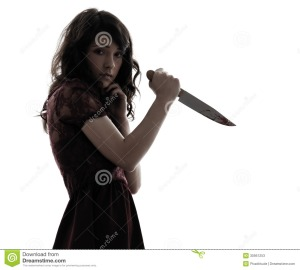 strange-young-woman-killer-holding-bloody-knife-silhouette-one-caucasian-white-background-30951253